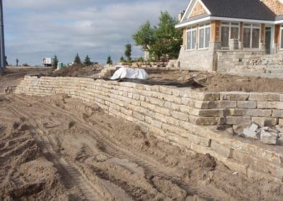retaining wall, natural stone